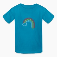 Royal blue rainbow drops cloud Kids Shirts