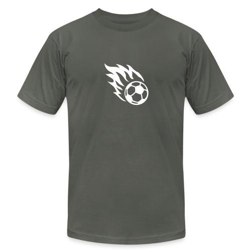 soccer football burning ball - Men's Fine Jersey T-Shirt