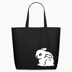 Black White Bunny Bags