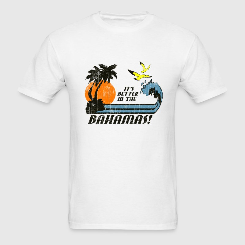 Bahamas faded t shirt spreadshirt for Faded color t shirts