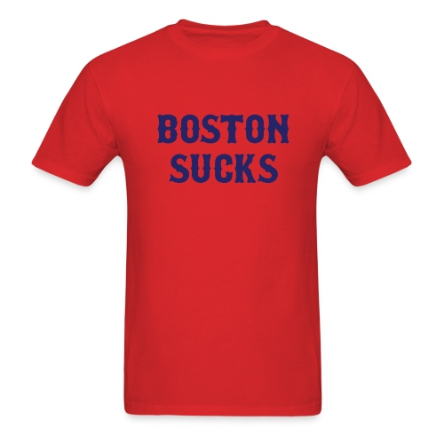 Boston Sucks Standardweight T Shirt - Men's T-Shirt