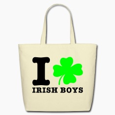 Creme i love irish boys Bags