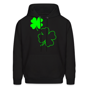 Black irish shamrock Hoodies