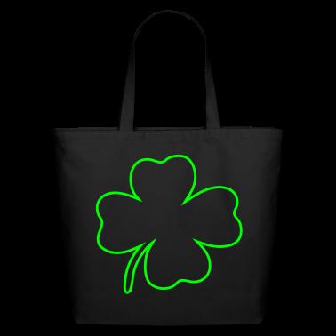 Black shamrock Bags