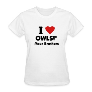 CUS: Loves Owls Shirt - Women's T-Shirt