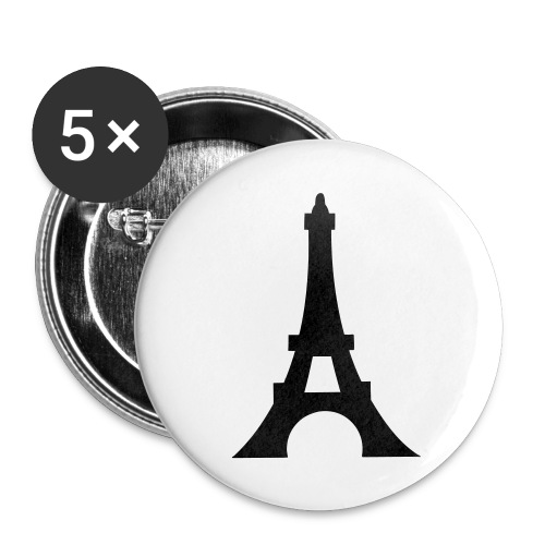 badge eiffel tower black - Small Buttons