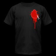 T-Shirts ~ Men's T-Shirt by American Apparel ~ Cut Your Losses black t-shirt