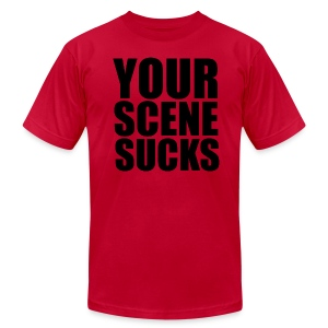 Your Scene Sucks impact t-shirt - Men's T-Shirt by American Apparel