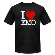 T-Shirts ~ Men's T-Shirt by American Apparel ~ I Heart Emo black t-shirt