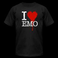 T-Shirts ~ Men's T-Shirt by American Apparel ~ I Heart Emo black t-shirt