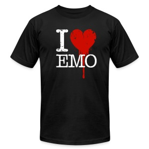 I Heart Emo black t-shirt - Men's T-Shirt by American Apparel