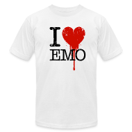 T-Shirts ~ Men's T-Shirt by American Apparel ~ I Heart Emo white t-shirt