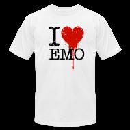 T-Shirts ~ Men's T-Shirt by American Apparel ~ I Heart Emo white t-shirt