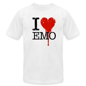 I Heart Emo white t-shirt - Men's T-Shirt by American Apparel