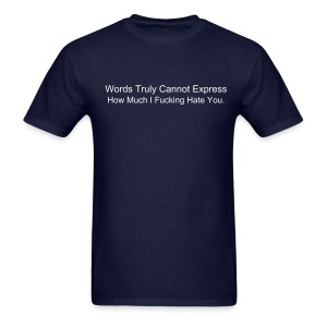 Expressing Hate - Men's T-Shirt