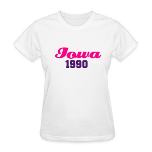 SLG 1990 - Iowa Tee  Purple and Pink  - Women's T-Shirt