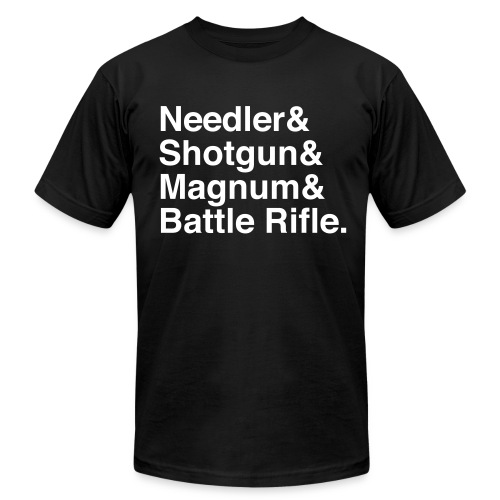 Halo Weapons - Men's  Jersey T-Shirt