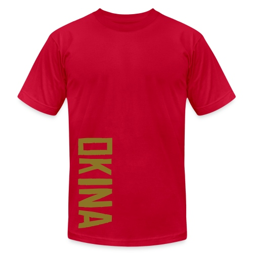 Okina Gold Blue - Men's Fine Jersey T-Shirt
