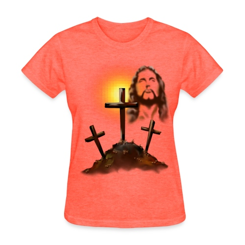 Jesus and three crosses - Women's T-Shirt
