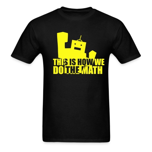 This is How We Do the Math - Black/Yellow - Men's T-Shirt