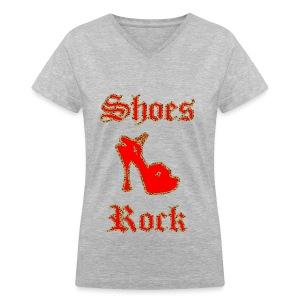 Shoe Diva - Women's V-Neck T-Shirt
