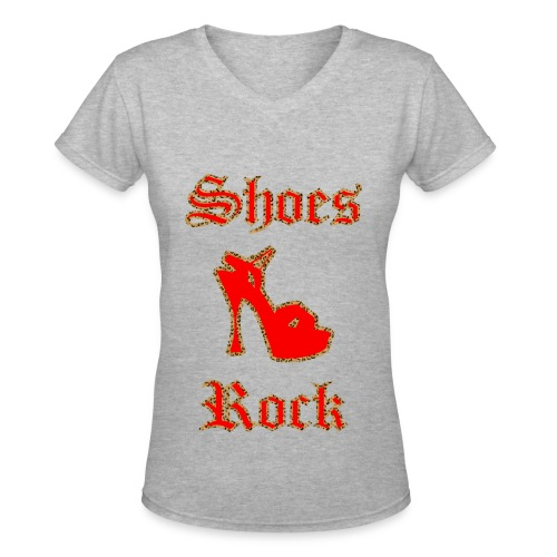 Shoes Rock - Women's V-Neck T-Shirt