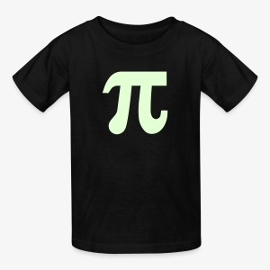 YellowIbis.com 'Mathematical Symbols' Kids T: Glow in the Dark Pi Symbol (Black) - Kids' T-Shirt