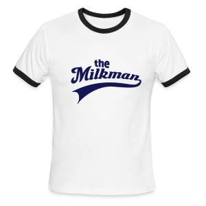 The Milkman V Neck - Men's Ringer T-Shirt