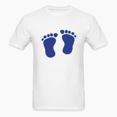 White Footprint - Baby T-Shirts
