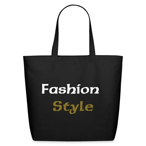 Cabas noir logo fashion style  - Eco-Friendly Cotton Tote