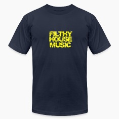 Navy Filthy House Music T-Shirts