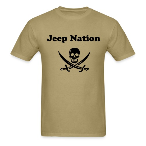 Jeep Nation with Jolly Rogers   - Men's T-Shirt