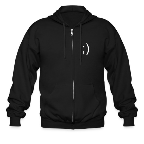 text smiley - Men's Zip Hoodie