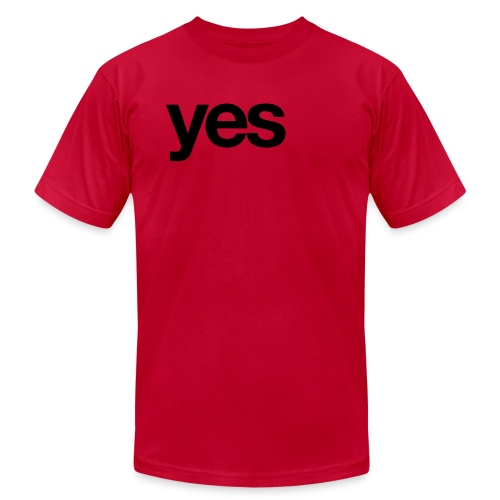 yes x 1 - Men's Fine Jersey T-Shirt
