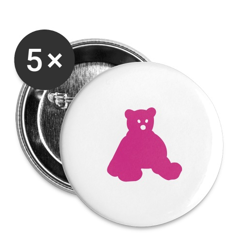 Pink Bear - Small Buttons