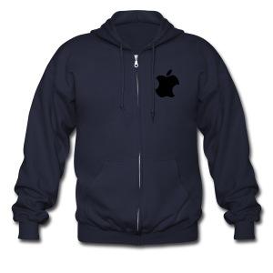 Apple Bite Robot Zipper Hoodie - Men's Zip Hoodie