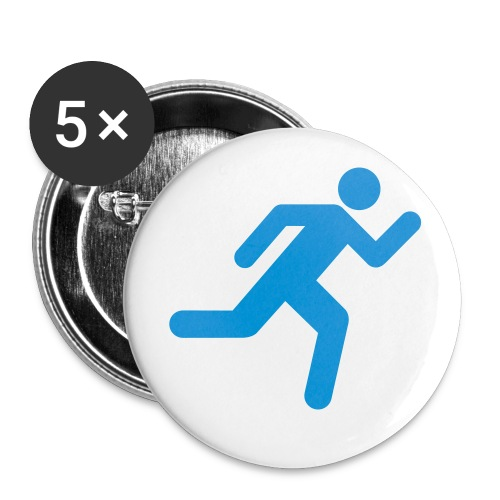 Don't Stop Running Large Badge 5pack - Large Buttons