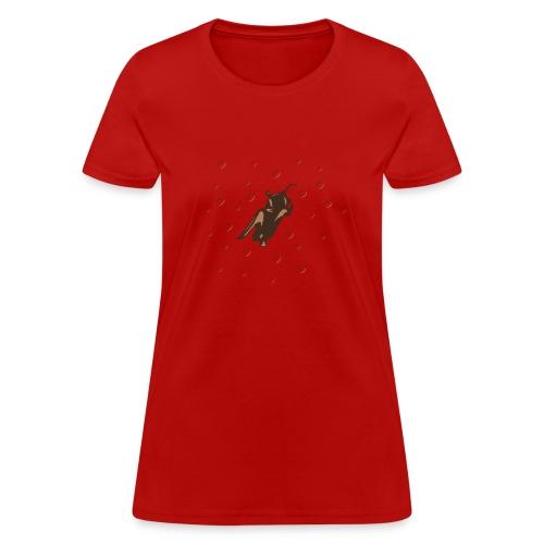 Space Bat Hangs On Ladies Tee - Women's T-Shirt