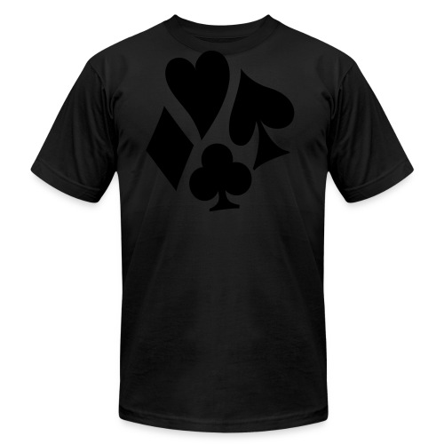 Wavy Suits - Black on Black - Tee - Men's Fine Jersey T-Shirt