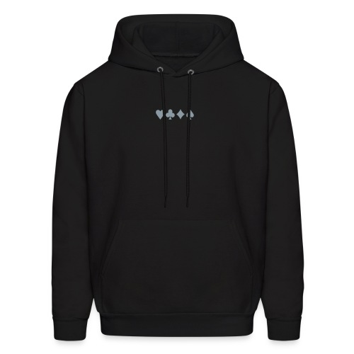 Suits - Metallic Silver - Centered (great for jacket) - Men's Hoodie