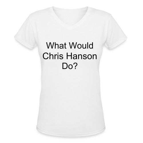 What Would Chris Hanson Do? - Women's V-Neck T-Shirt
