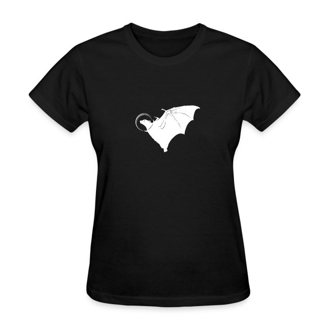 Space Bat Helmet Ladies Tee (Dark)