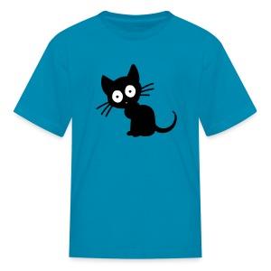 Kids Black Cat Tee - Kids' T-Shirt