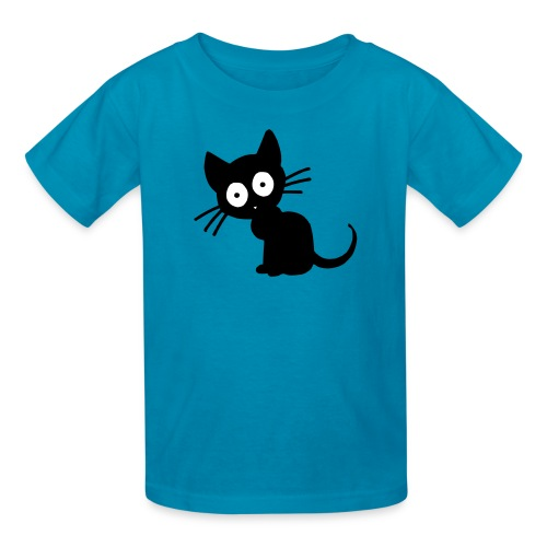 Kids Black Cat Tee - Kids' T-Shirt