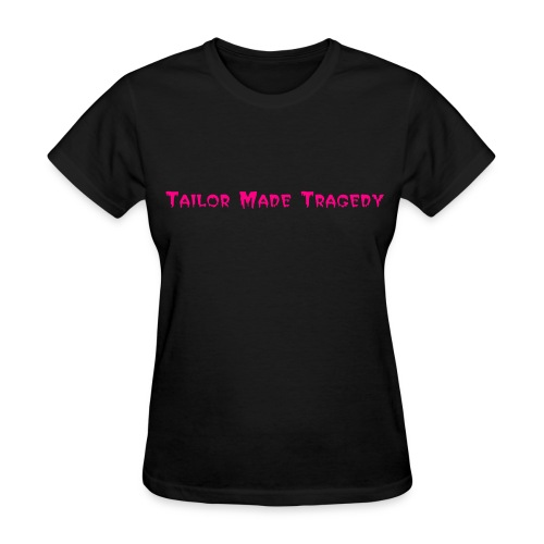 TMT simple ladies black and pink - Women's T-Shirt