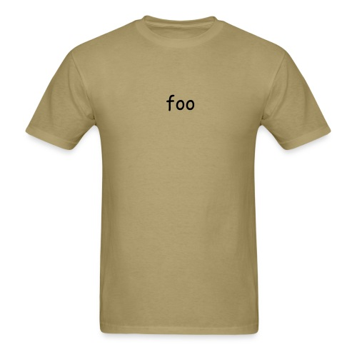 Foo(on Front) Bar(on Back) - Men's T-Shirt