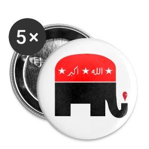 Republican Logo Deconstruction - Large Buttons
