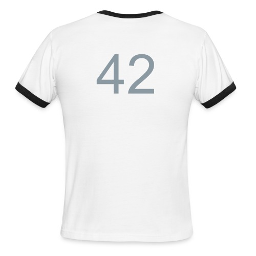 42 Ringer (on Back) - Men's Ringer T-Shirt