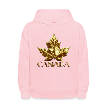 Kid's Canada Hoodies Canada Souvenir Maple Leaf Kids Hooded Sweatshirt