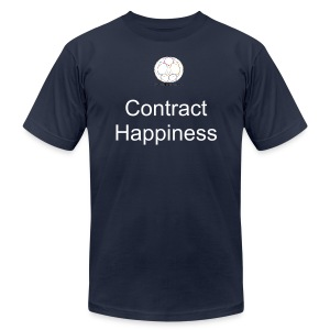 Contract Happiness - Men's T-Shirt by American Apparel